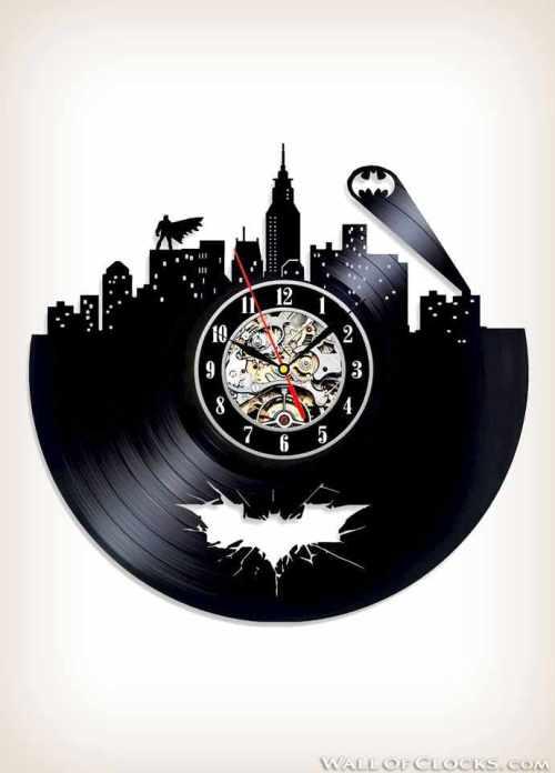 Arkham City Batman Vinyl Clock