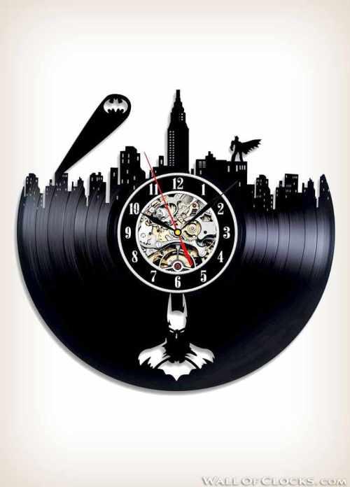 Batman Gotham City Logo Vinyl Clock