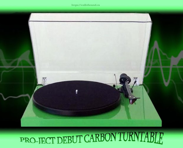 Pro-ject Debut Carbon Turntable in green. c/w Ortofon 2M Red cartridge pre-installed.