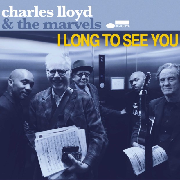 "This CD cover released by Blue Note Records shows ""I Long to See You,"" the latest release by Charles Lloyd & the Marvels. (Blue Note via AP)"