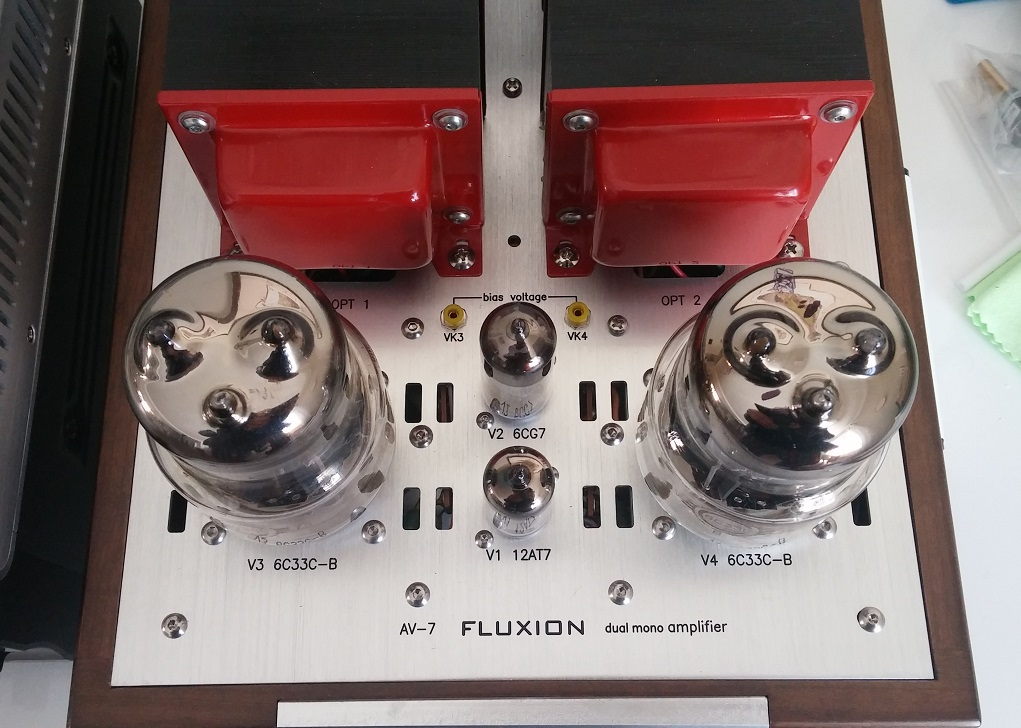 Review: Fluxion AV-7 Single-Ended 6C33C Amplifier | Wall of