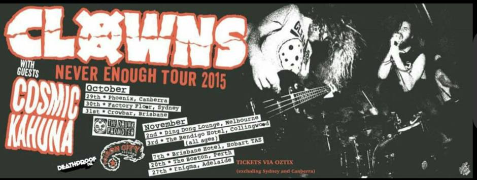 clowns tour banner