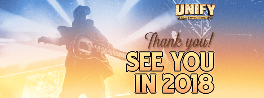 You can expect the UNIFY 2018 lineup to drop at the end of August