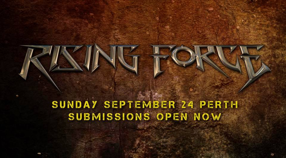 Want to play at Perth's Rising Force Metal Festival? Applications Close THIS WEEK.