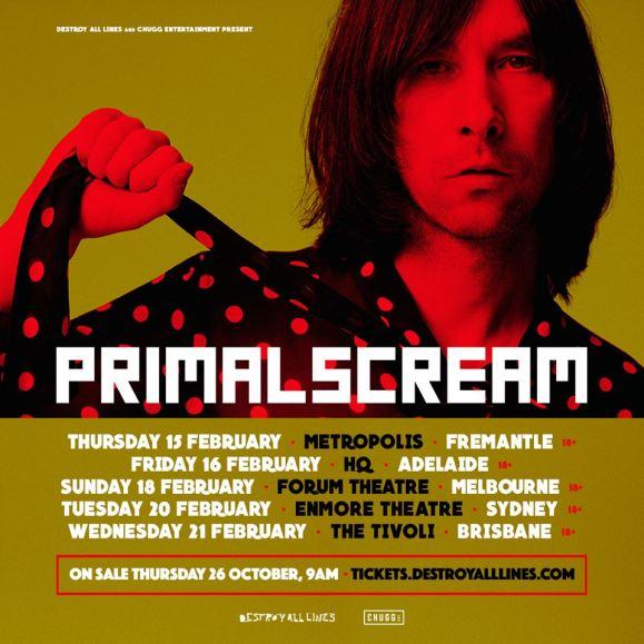 primal scream tour