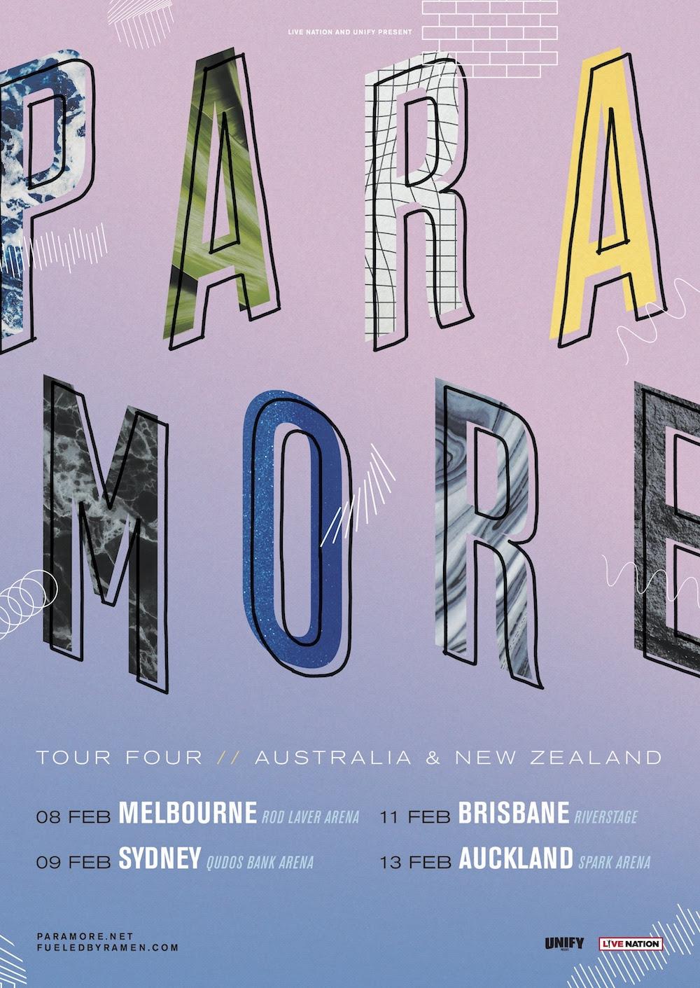 paramore tour