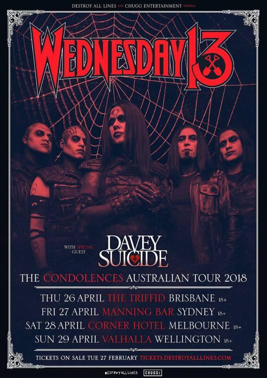 wednesday 13 tour 2018