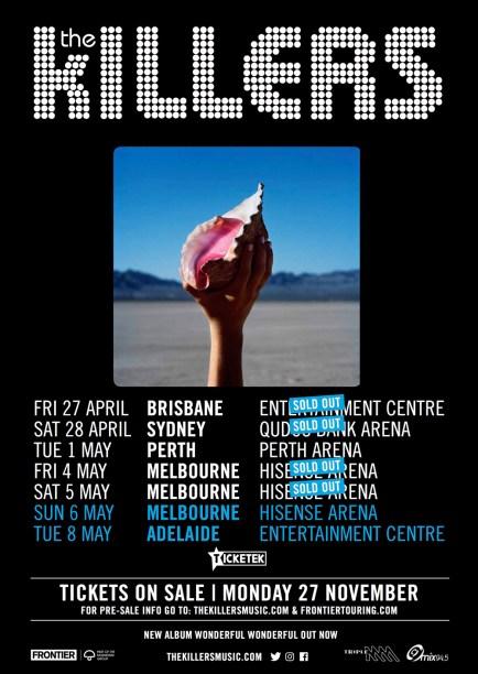 killers tour
