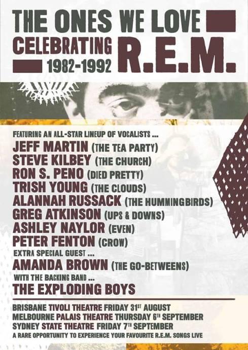 R.E.M. The Ones we Love Tribute Tour