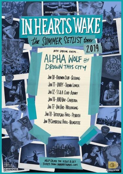 in hearts wake summer setlist 2019