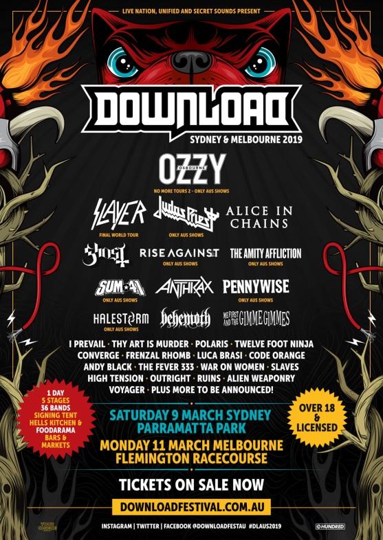 Download Festival 2019 Australia Lineup 2