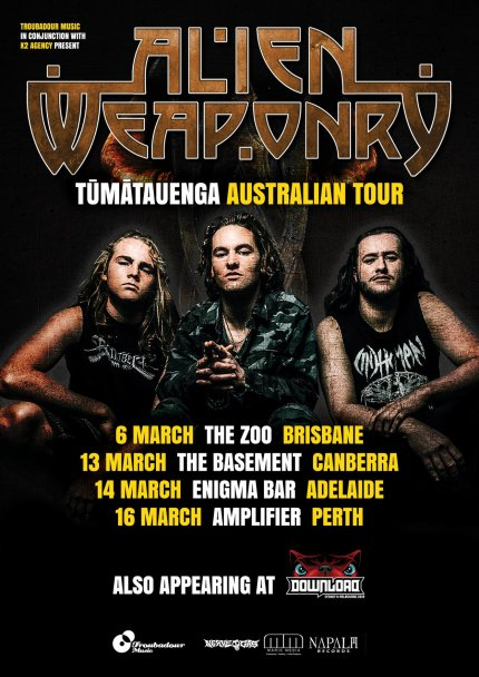 alien weaponry tour new