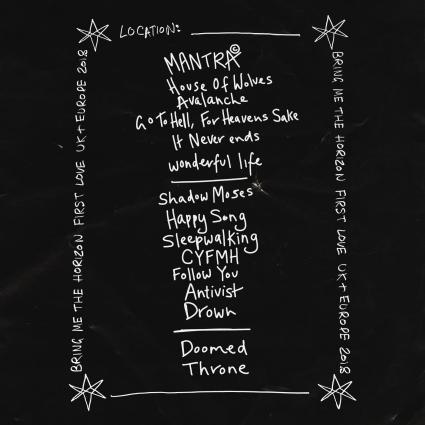 bmth setlist 2018 first love tour