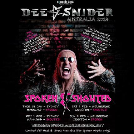 dee snider tour new