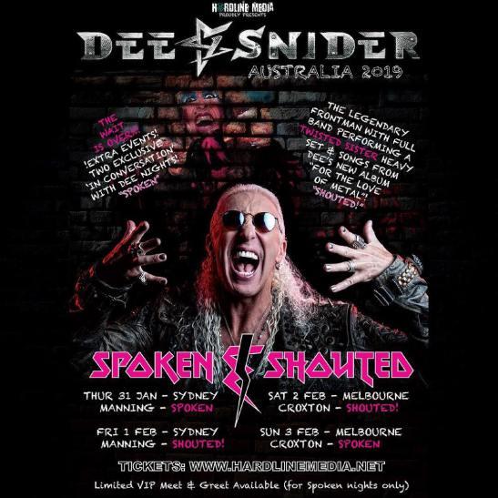 dee snider tour new