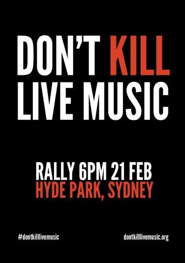 don't kill live music