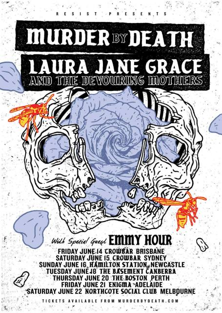 murder by death laura jane grave tour