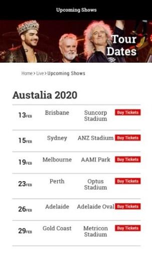 queen australian tour 2020