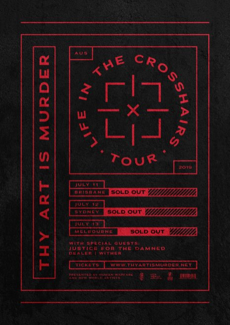 thy art is murder sold out