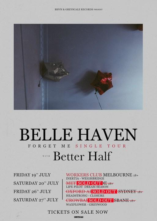 belle haven forget me tour