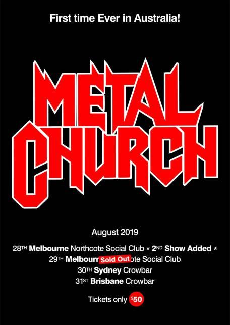 metal church tour east coast