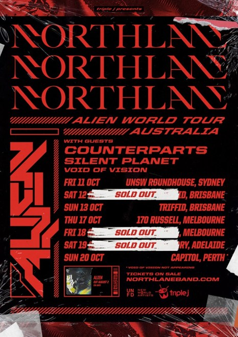 northlane new tour bris