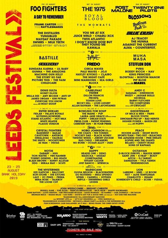leeds festival poster