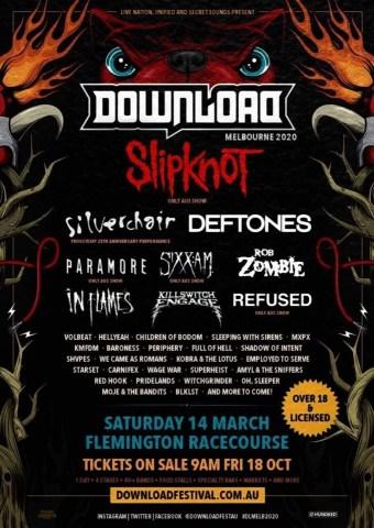 Download Festival 2020.Rollin Coverage Download Festival Australia 2020 Confirms