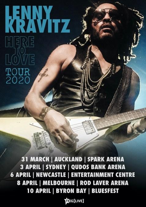 Lenny Kravitz 2020 Tour Art