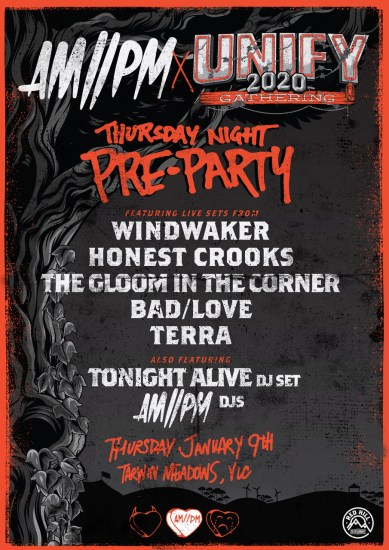 UNIFY Pre Party Poster