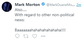 mark morton deleted tweet - wall of sound