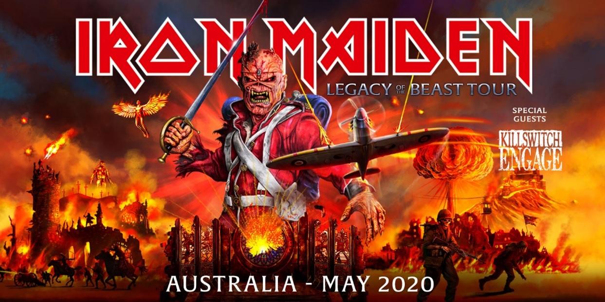 Iron Maiden Tour 2020 Usa.Iron Maiden Announce Australian Tour With Killswitch Engage