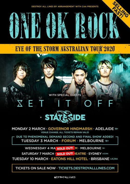 one ok rock tour