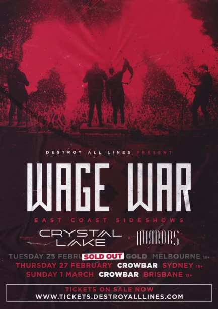 wage war sold out