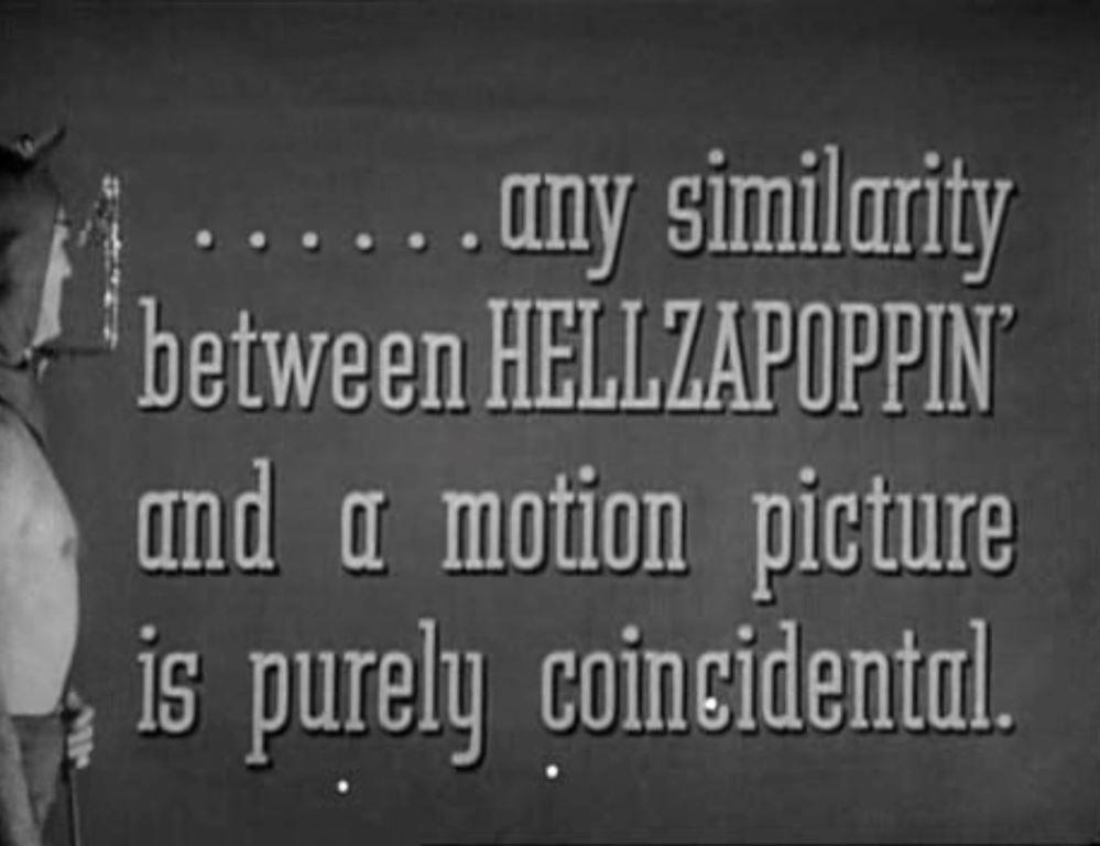 POTTER : Hellzapoppin' (1941)