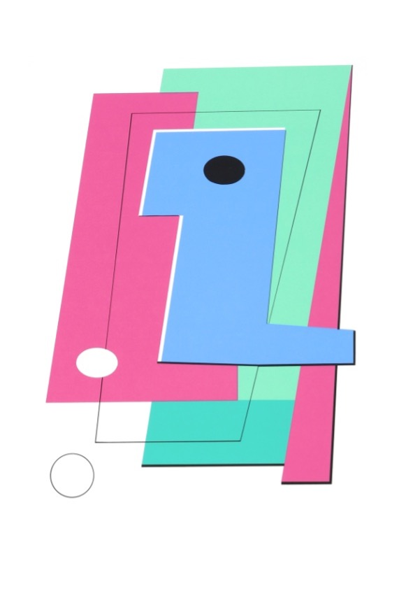 BAUGNIET : sans titre (1987, Artothèque, Lg)