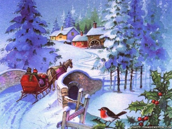 old fashioned christmas wallpapers group 55 - Vintage Christmas Wallpaper