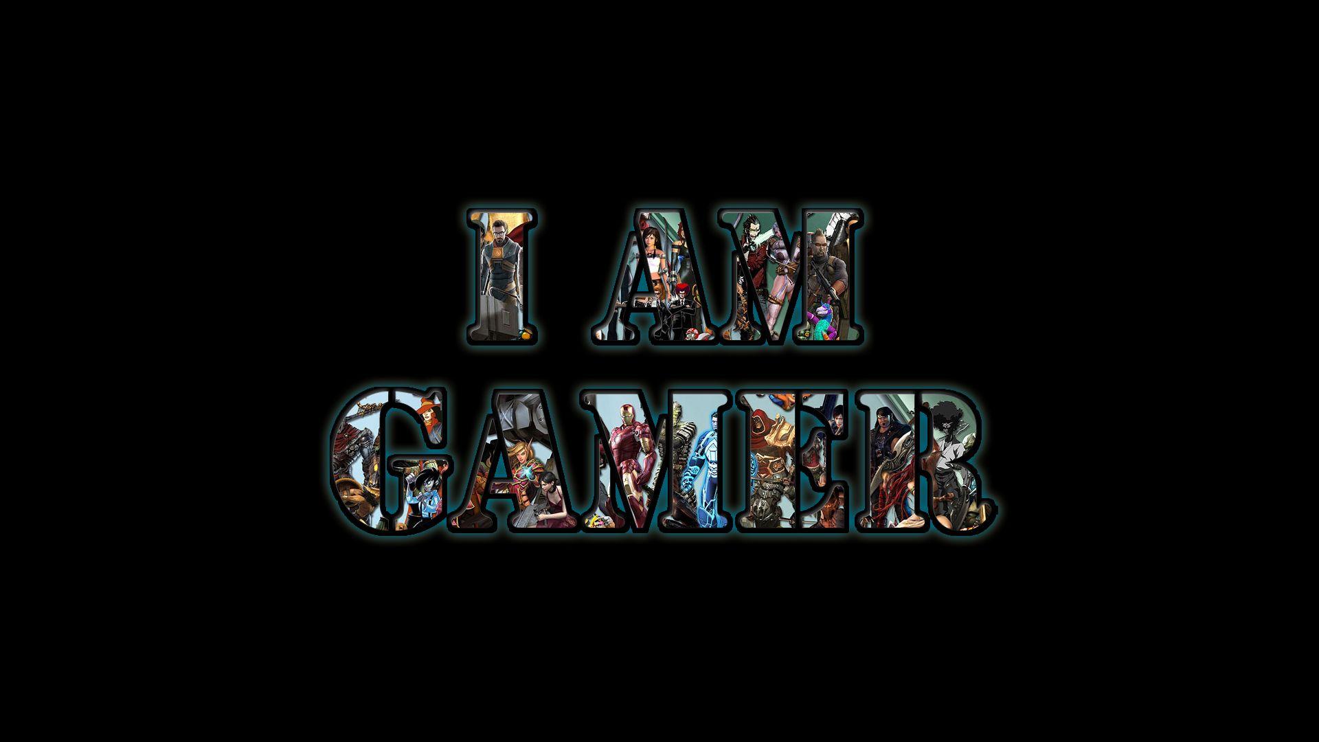 i am a gamer pc fond ecran noir jpg