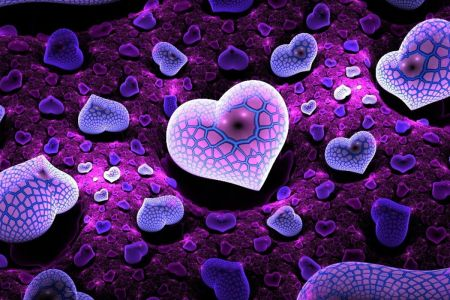 3D Love Wallpapers For Desktop Group  83   Cool 3D Wallpaper Purple   Wallpapers Gallery