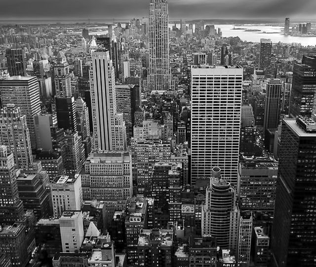 New York Empire State Building Black White Iphone  Wallpaper