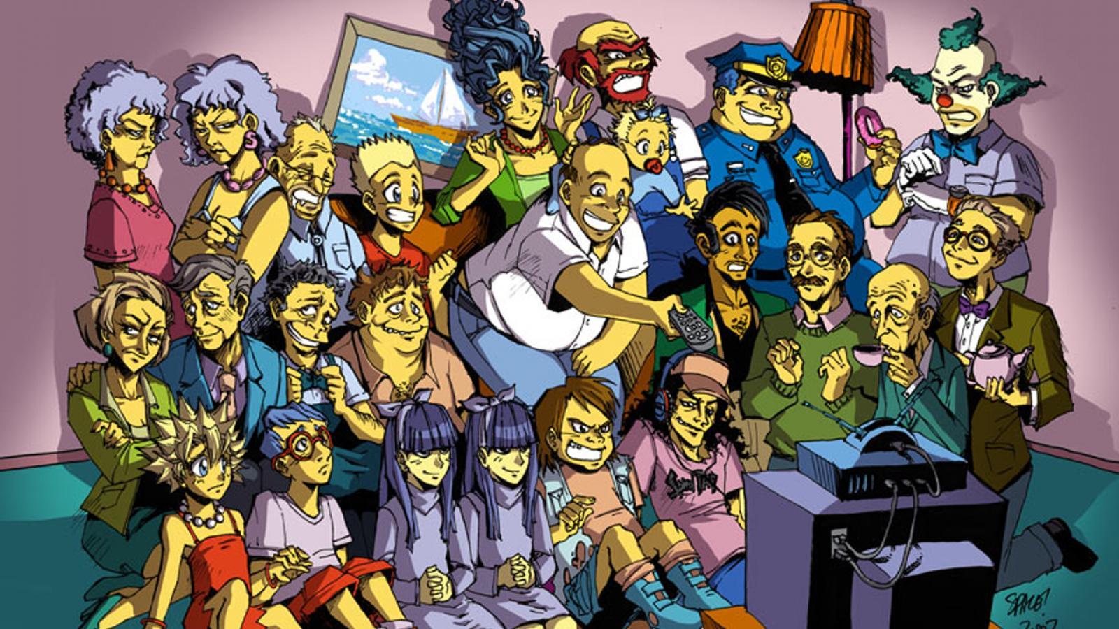 Apu Nahasapeemapetilon Bart Simpson Homer Simpson Krusty The Clown