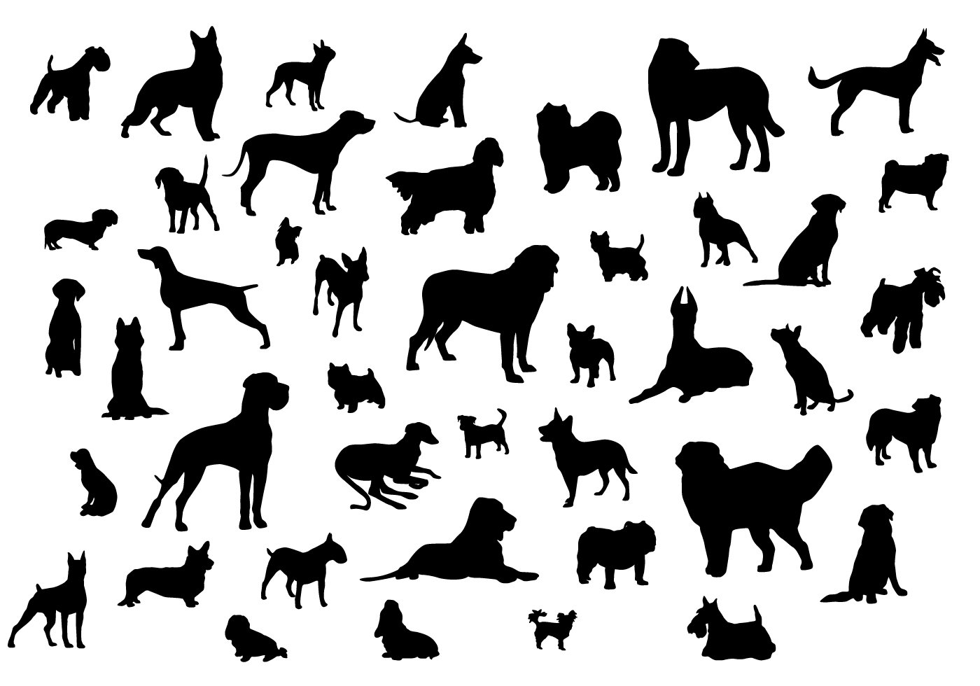Dog Silhouette Wallpapers Group 34