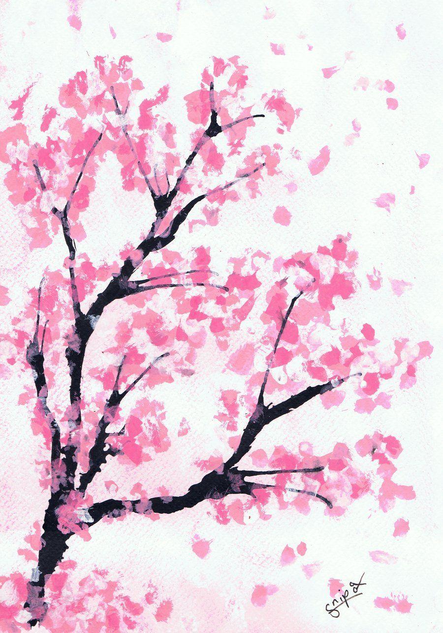 Cherry Blossom Art Wallpapers On Wallpaperdog