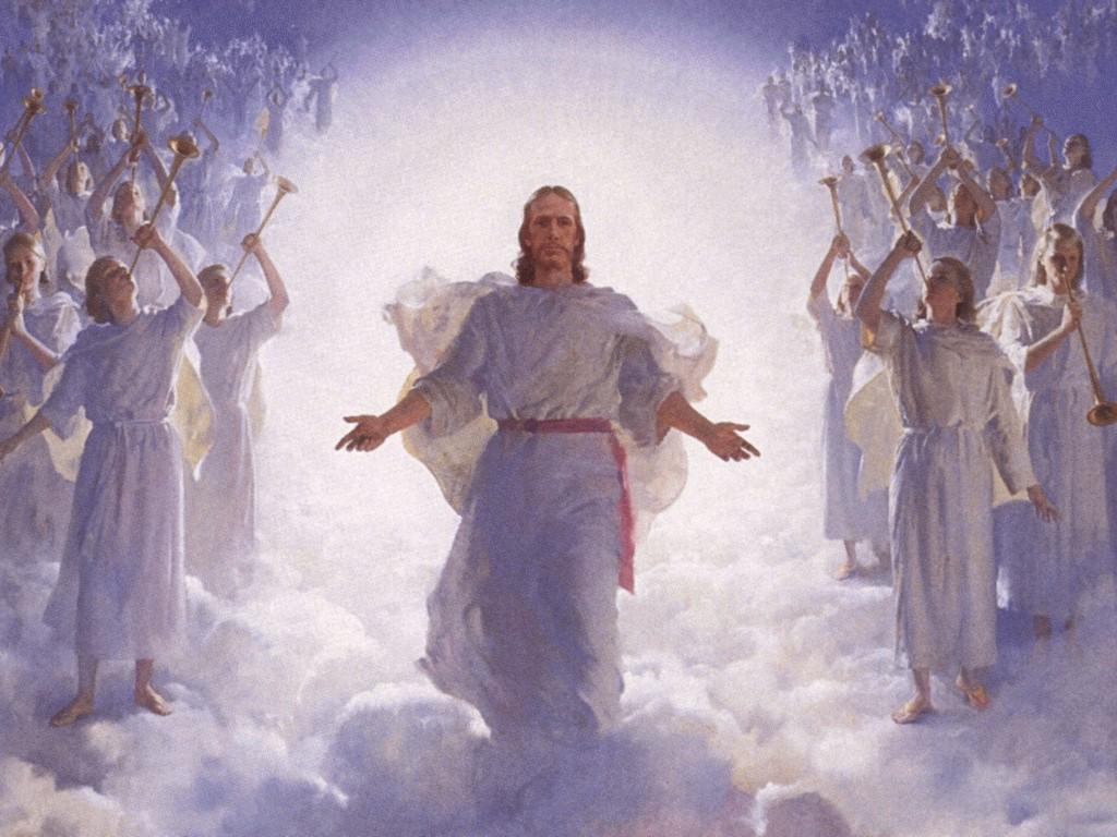 ... Image: Jesus Christ on Heaven with <b>Angels</b> Papel de Parede Imagem
