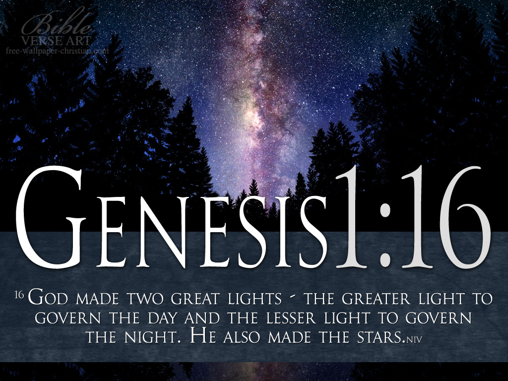 Christian wallpaper Genesis 1:16