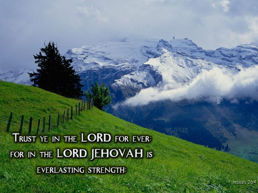 Christian wallpaper Isaiah 26:4