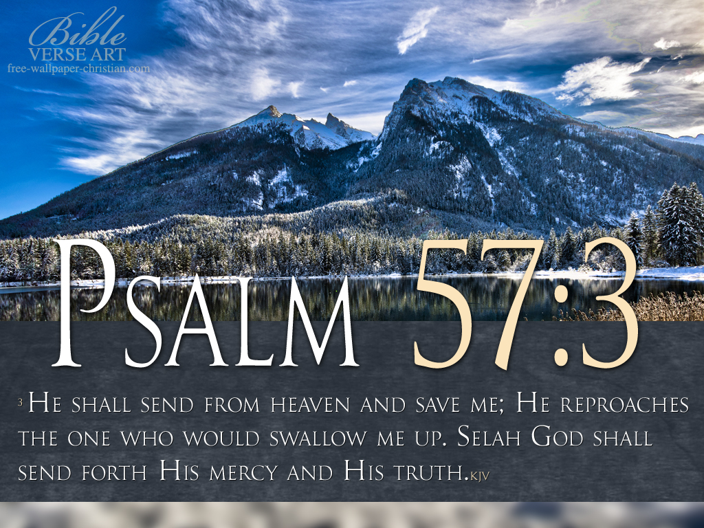 Christian wallpaper Psalm 57:3