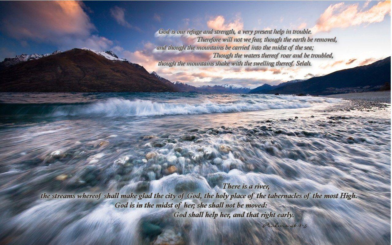 Christian wallpaper Psalms 46:1-5