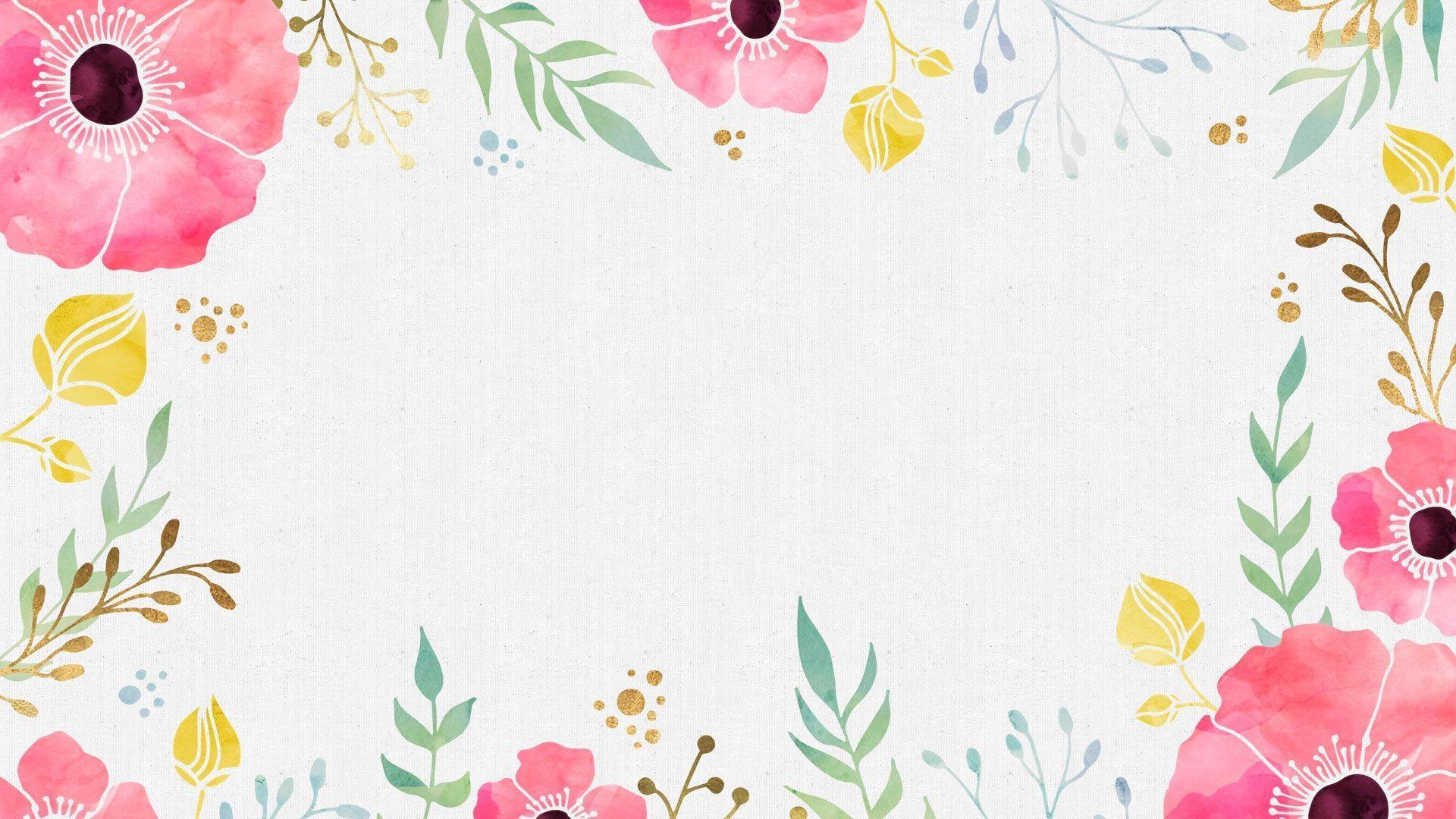 Watercolor Floral Desktop Wallpapers Top Free Watercolor Floral Desktop Backgrounds Wallpaperaccess