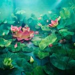 Lotus Flower Wallpaper Art